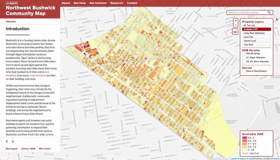 Northwest Bushwick Community Map Redesign