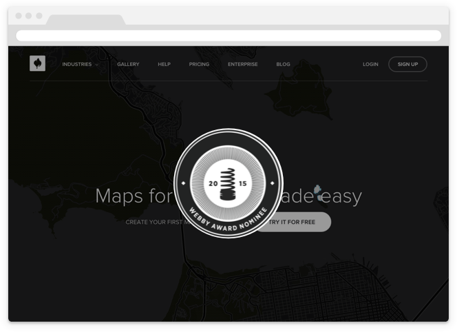 CartoDB + Webby Awards
