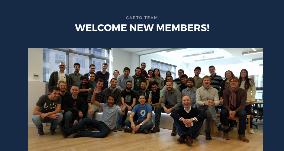 CARTO strengthens its Sales team, adding key individuals!