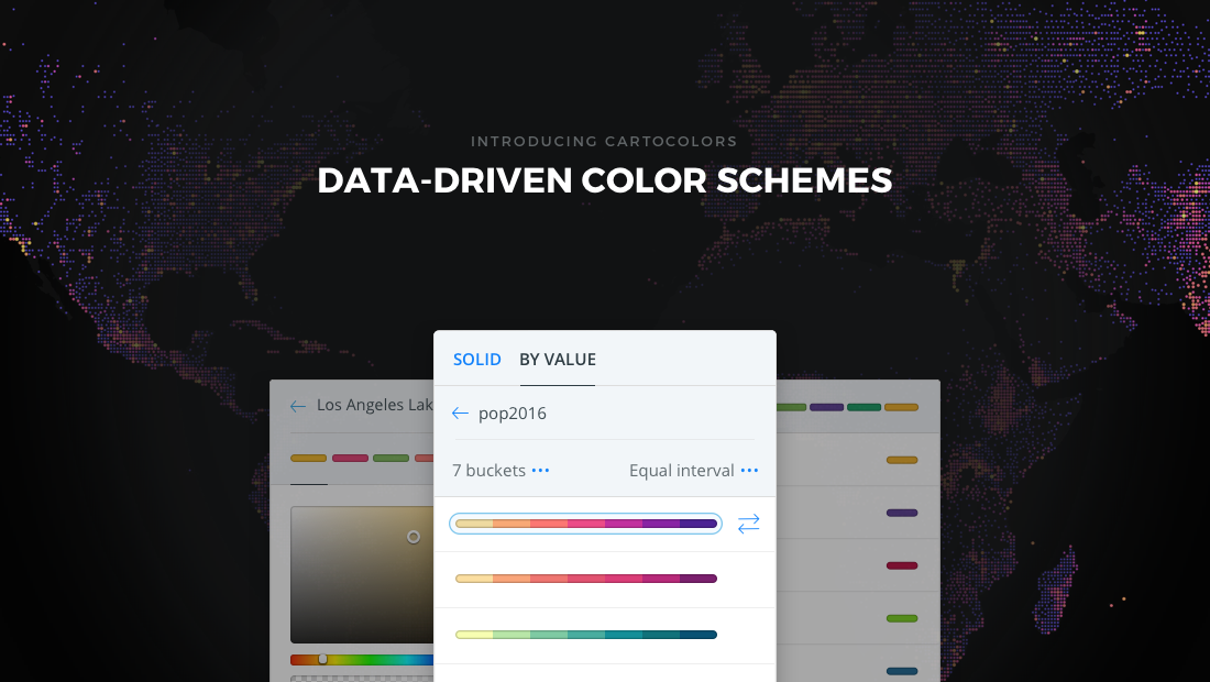 Color by data: Introducing CARTOColors