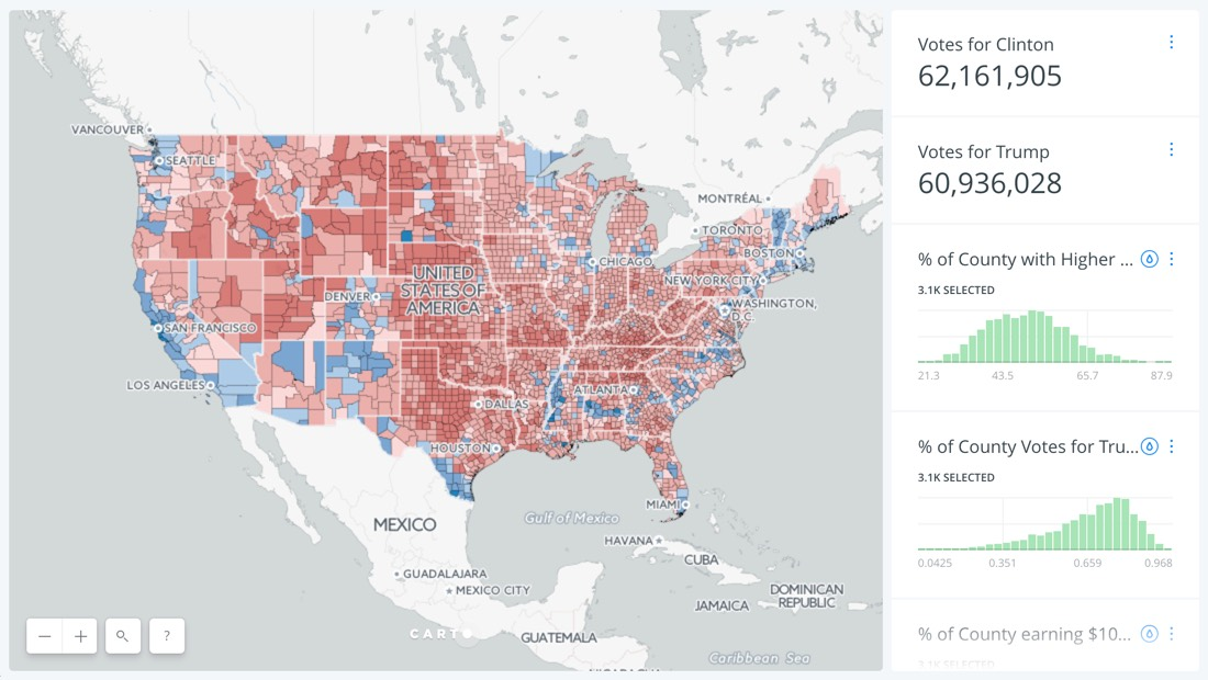 What divides the U.S.? The 2016 Presidential Election Visualized ...