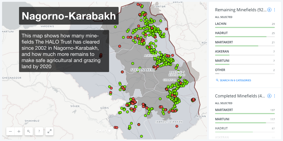 Map of the Month: Landmine Removal in Nagorno-Karabakh