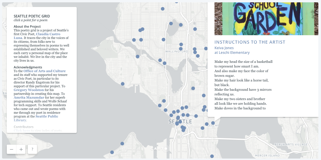Map of the Month: Seattle Poetic Grid