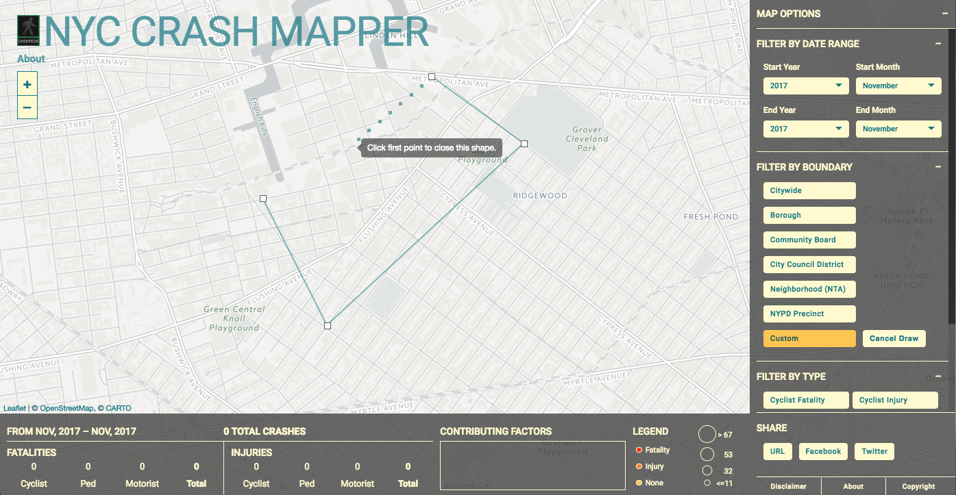 NYC Crash Mapper