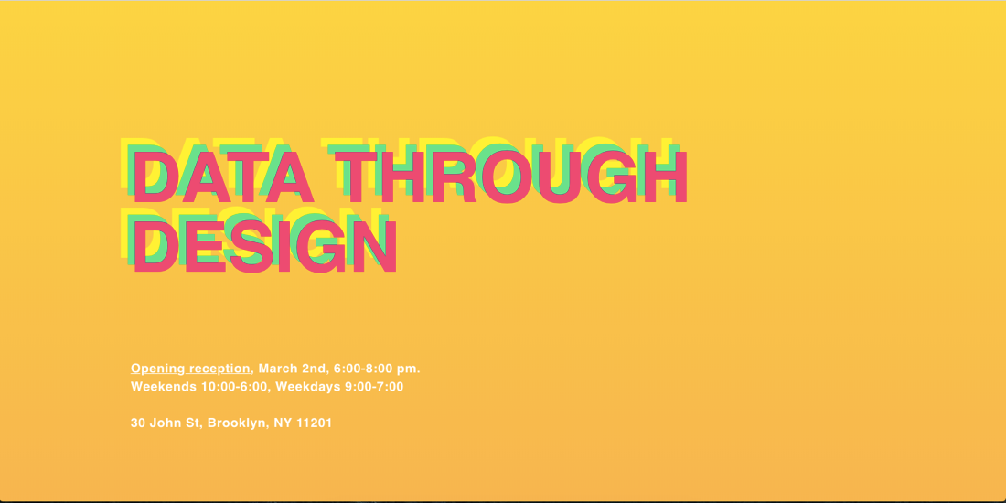 Data Through Design Opening Reception: Kicking-Off NYC Open Data Week 2018 in Style