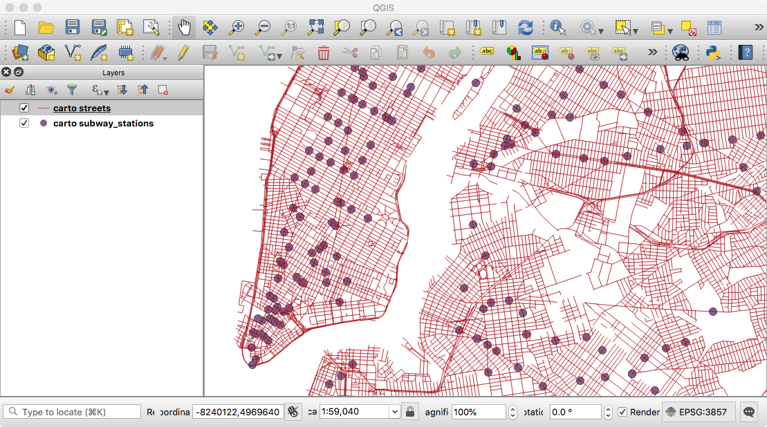 CARTO in QGIS using OGR