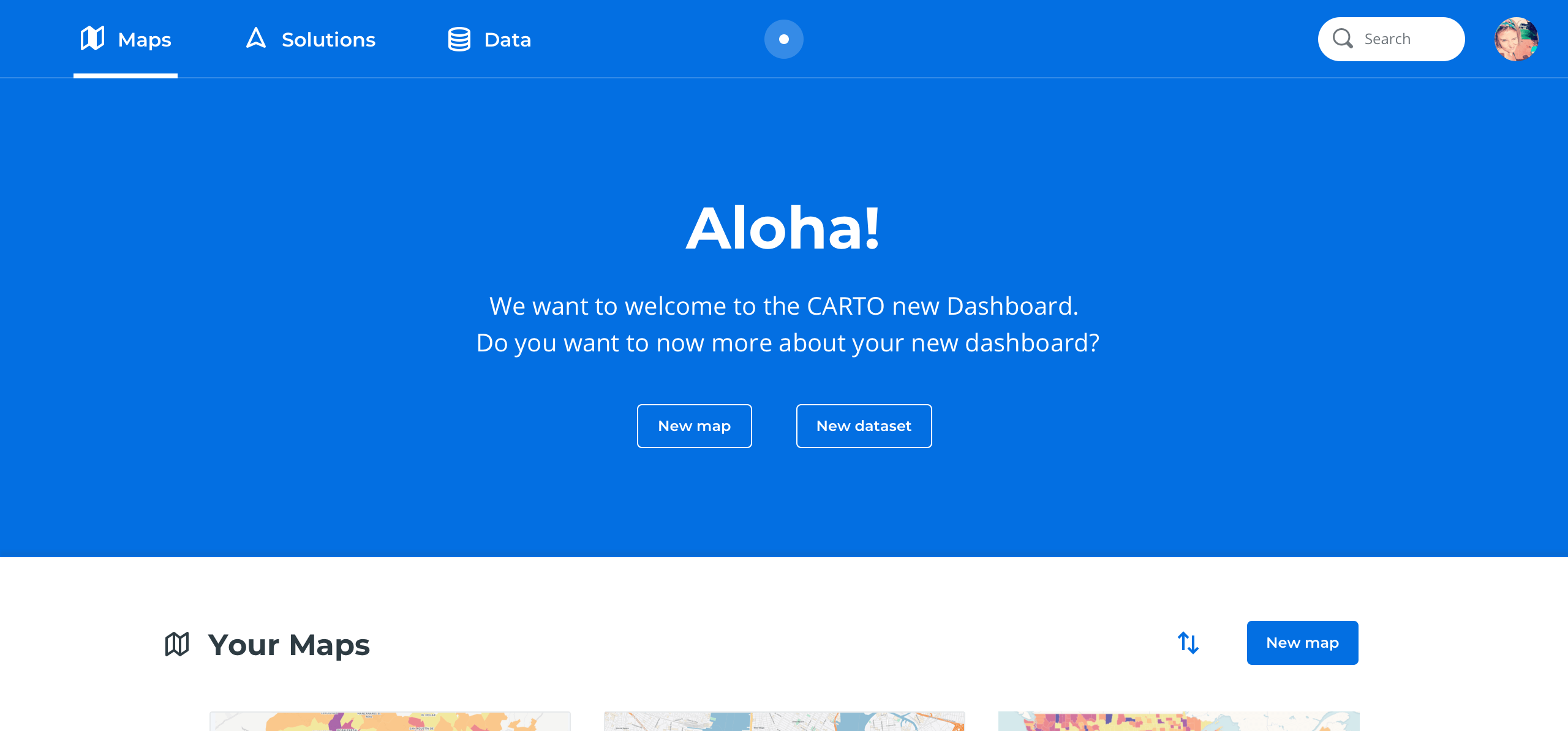Introducing the new CARTO dashboard 🎉