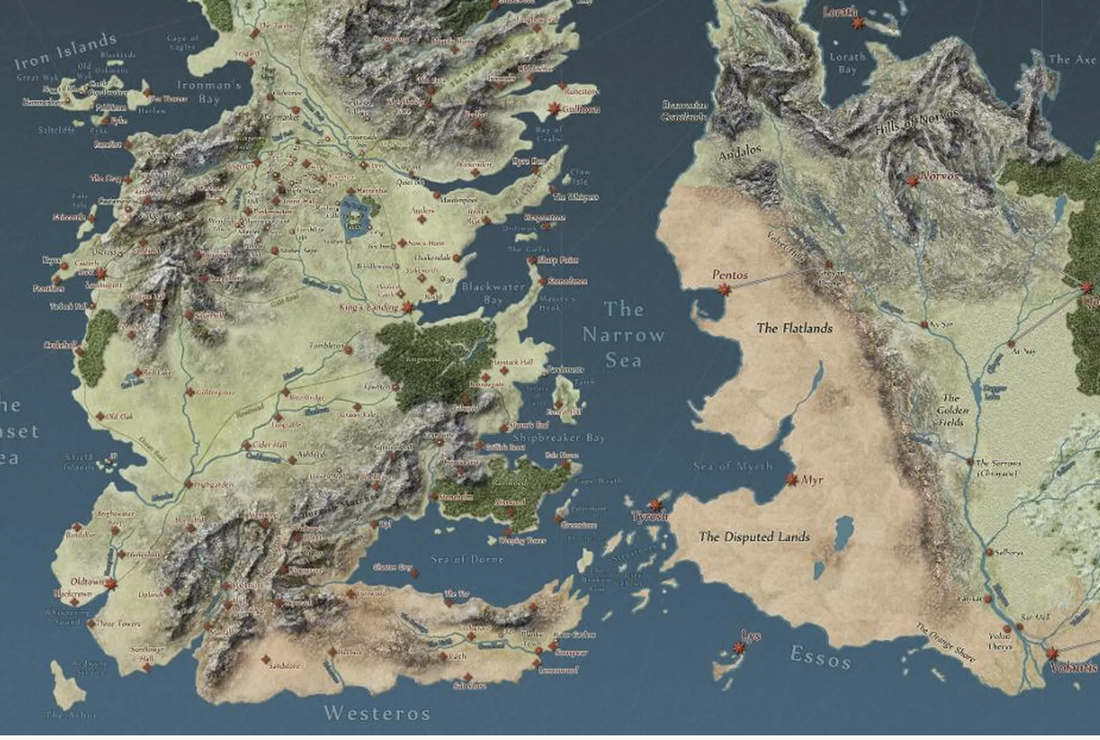 Detailed Westeros Map