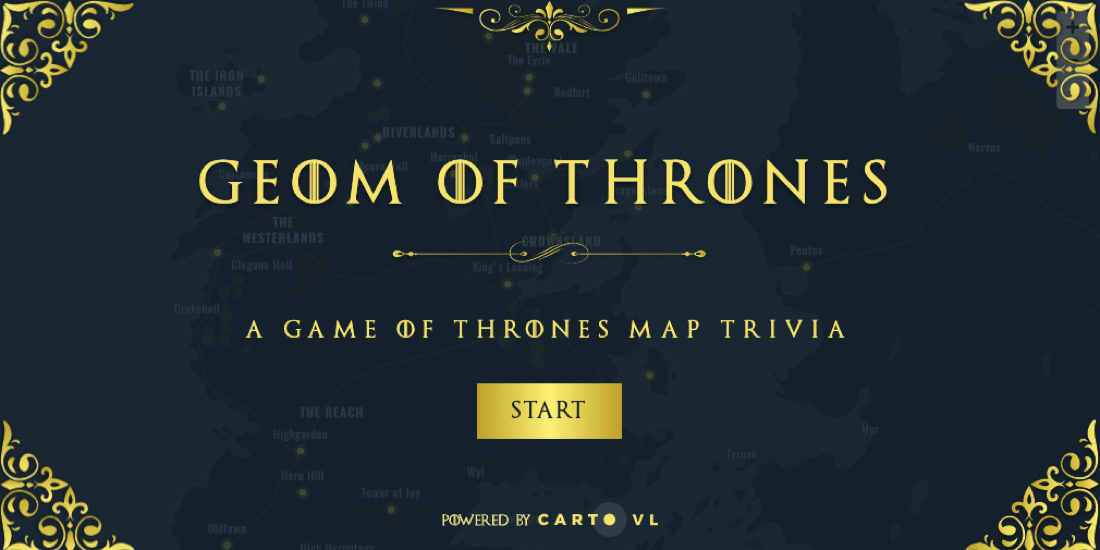 Making the Map: Game of Thrones Trivia