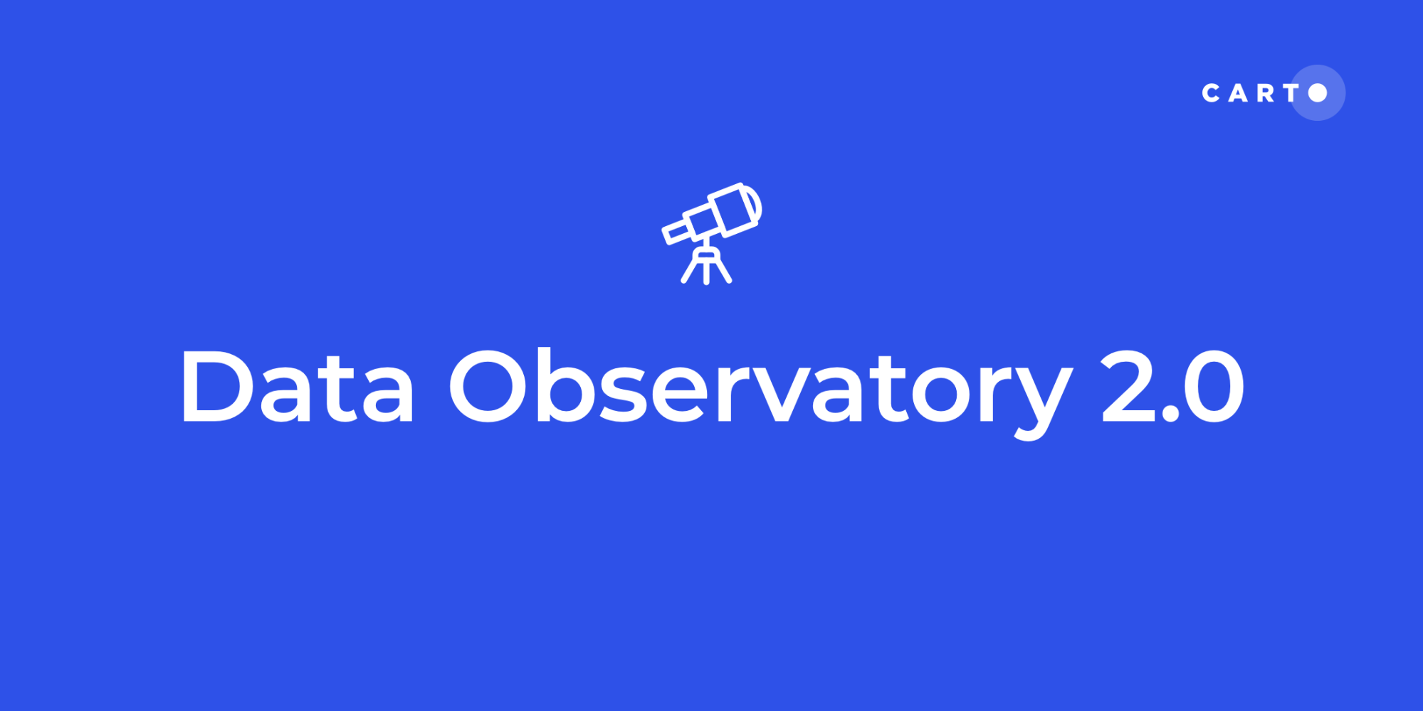 Spatial Data Simplified: Introducing Data Observatory 2.0