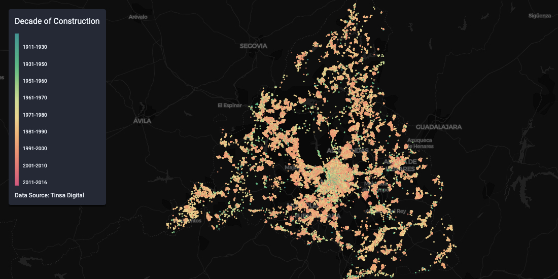 Spanish Residential Real Estate data in CARTO with Tinsa Digital