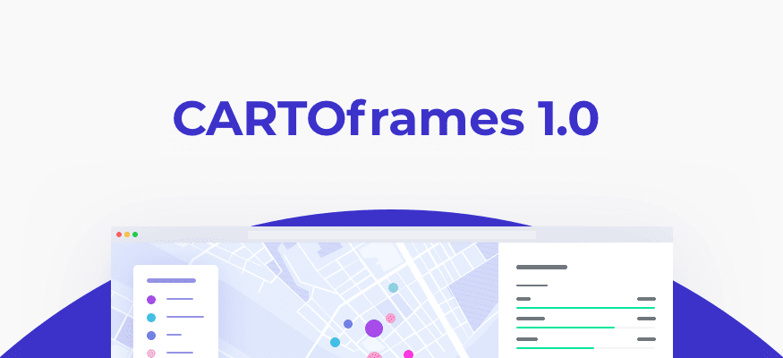 Speed up your spatial analysis with CARTOframes 1.0