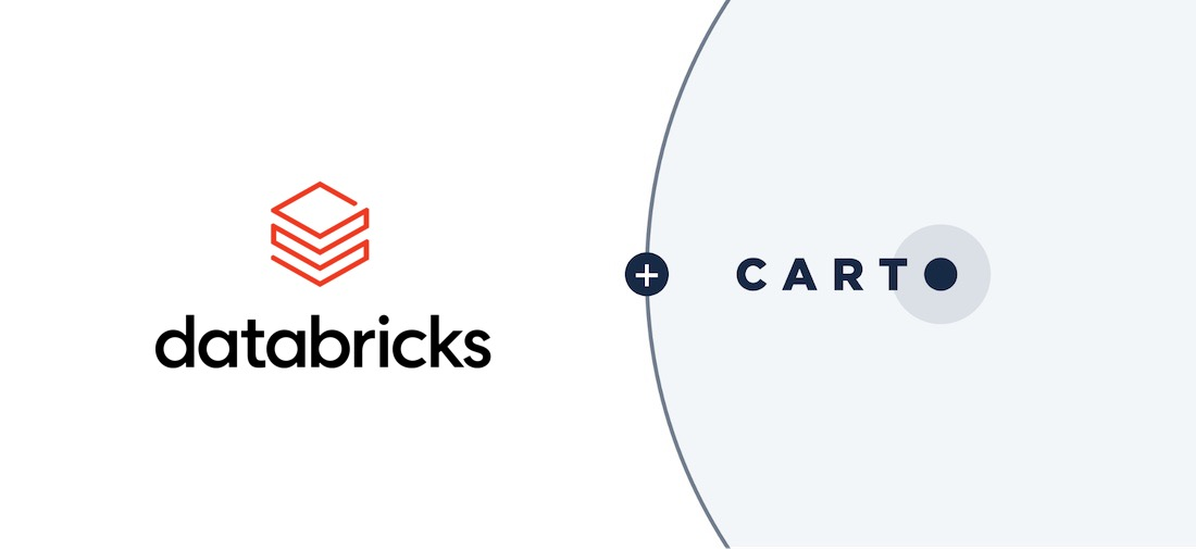 Graphic showing CARTO and Databrick's logos