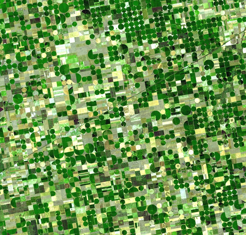 Satellite image of Haskell County, Kansas