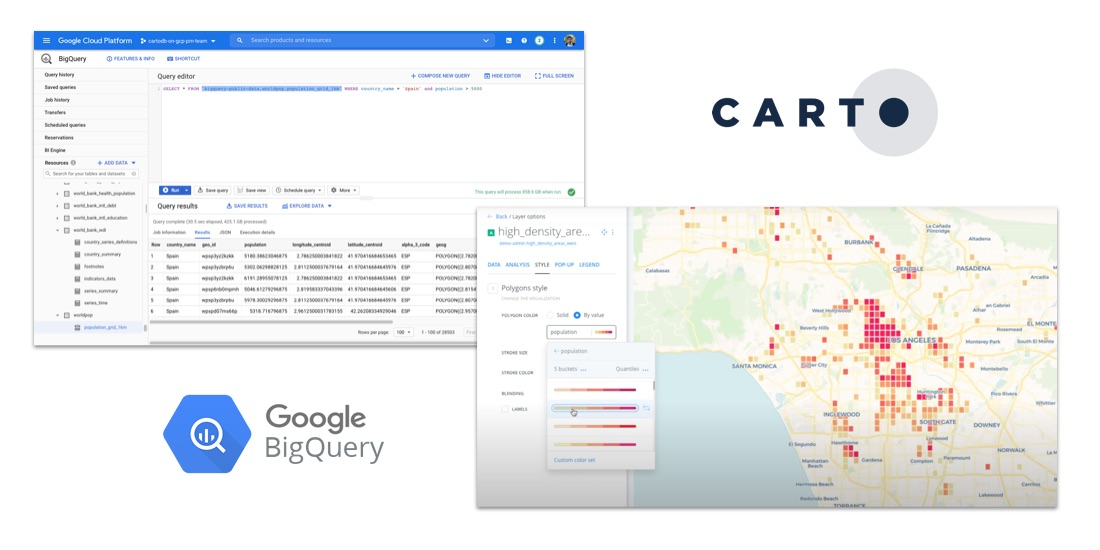 How to Analyze Google BigQuery Data in CARTO