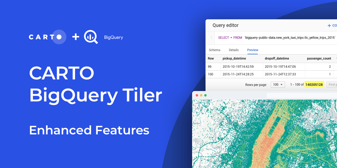 CARTO BigQuery Tiler Upgrade Gives Speed & Feature Boost