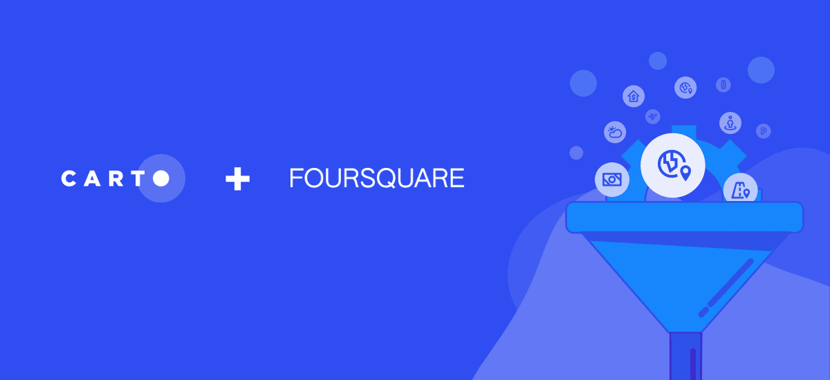 Foursquare POI & Foot Traffic Data now available in CARTO
