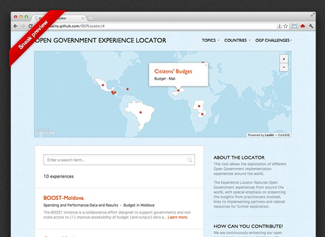 open government homepage screenshot