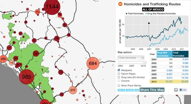 drug war in mexico map on cartodb