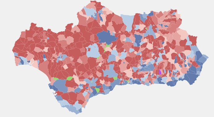 map of elections in andalucia