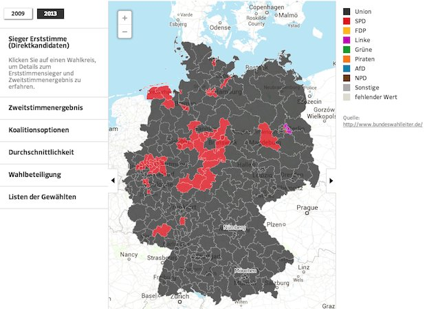 election mapping germany map