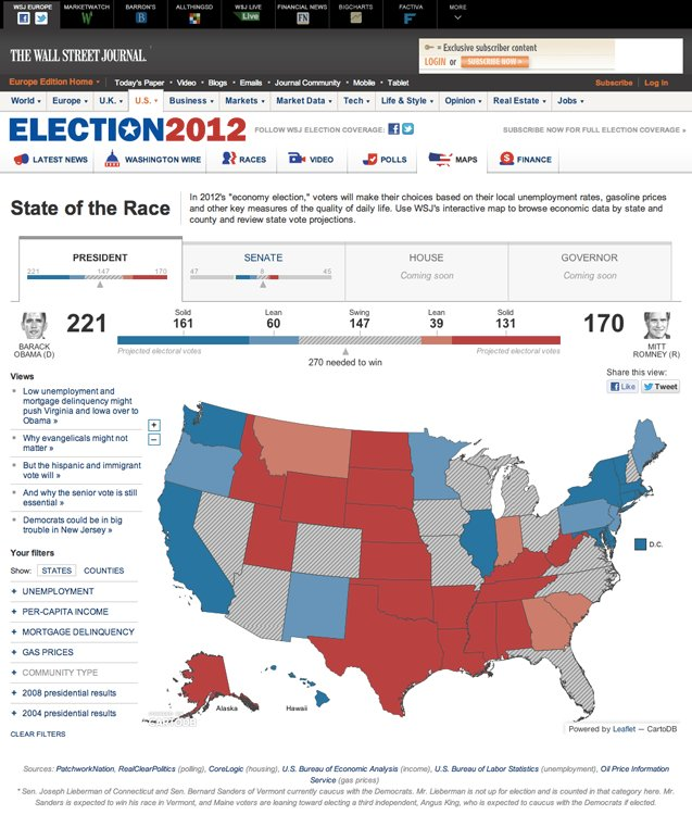 wall street journal election map article
