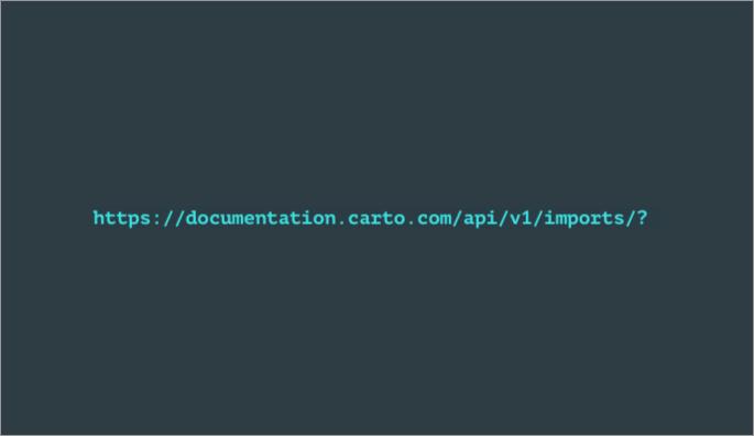 Import API - Home