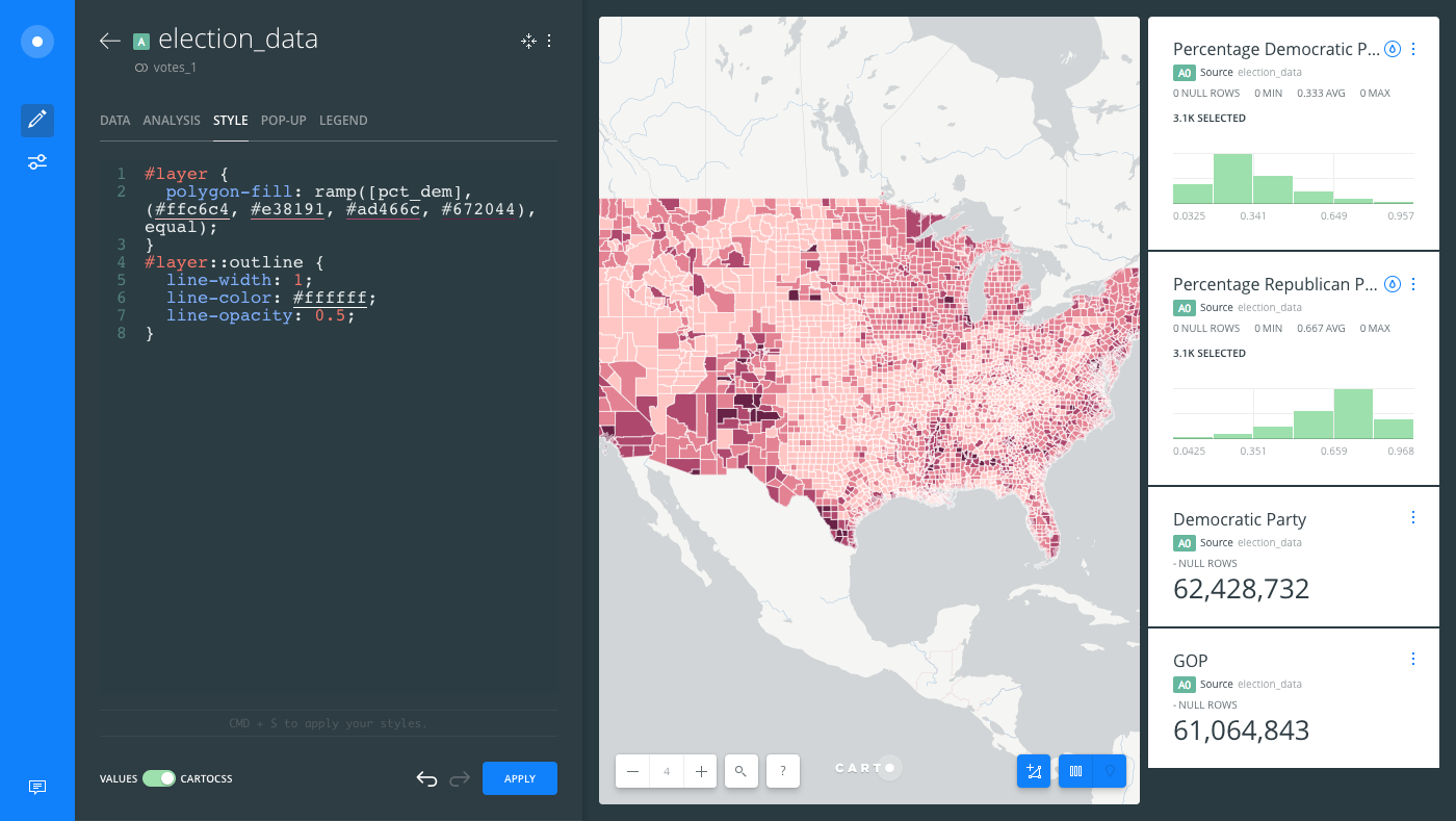 Choropleth Map for Statistical Data — Help Center on