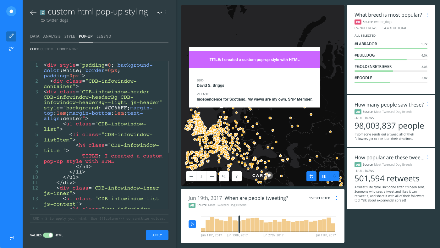 Customizing Pop-ups with HTML — Help Center
