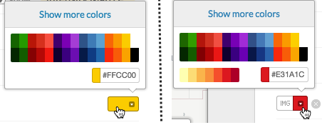 Legend color selector